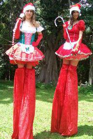 Christmas Stilt Walkers